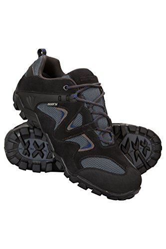 Mountain Warehouse Curlews Mens Waterproof Walking Shoes - Quick Drying Hiking Boots, Suede & Mesh Outer Material Outdoor Shoes, Rubber Sole - Ideal for Everyday Use Grey 9 UK