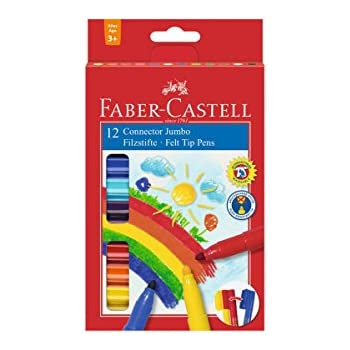 6er Etui Filzstift Jumbo Connector Pen Faber-Castell 155208