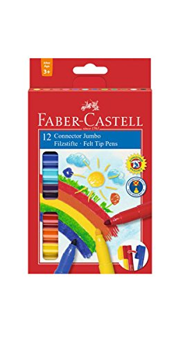 Faber-Castell 155212 - Filzstift Jumbo Connector Pen, 12er Etui