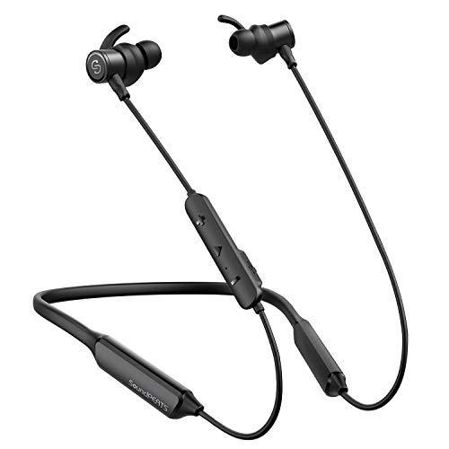 Cuffie Bluetooth 4.1 Magnetiche, Cuffie Sport, Auricolari Wireless in Ear SoundPEATS Microfono Incoperato, 20 Ore Riproduzione, Resistente al Sudore/Acqua, per iPhone/Samsung/Huawei