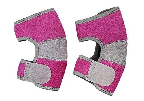 Ellbogenschützer Kinder Ellenbogenschutz Unterstützung Sport Ellenbogenschoner für Junge Mädchen Ellenbogenstütze Rosa Stützbandage Atmungsaktive Ellenbogenbandage für Basketball Rollschuh Fußball