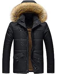 3a701ca931553 Doudoune en Coton, Internet Homme Hiver Chaud Manteau Plus épais Veste à  Capuche
