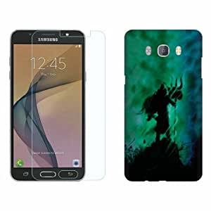 Printland Tempered Glass + Back Cover Combo For Samsung Galaxy On 8
