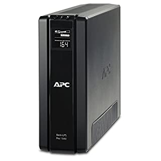 APC Back UPS PRO USV 1500VA - BR1500G-GR - inkl. 150.000 Euro Geräteschutzversicherung (6-Schuko, Stromsparfunktion, Multifunktionsdisplay)