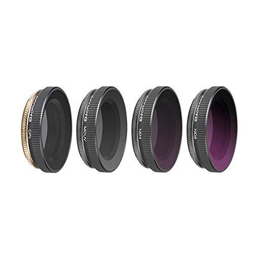 Preisvergleich Produktbild AmaSells für DJI Osmo Action Kamera Zubehör Sunnylife Sportkamera 4 STÜCK MCUV+CPL+ND4+ND8 Filter Kamera Objektiv Filter für DJI OSMO Action 4k Kamera (A)