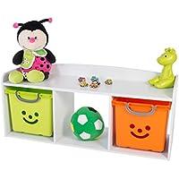 Preisvergleich für IRIS, Kindersitzbank 'Kids Bench' mit Stauraum / Aufbewahrung, Holz, weiß, 101,4 x 34 x 43,4 cm