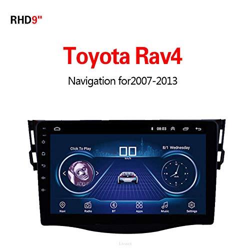 Lionet GPS-Navigation für Toyota RAV4 2007-2013,9 Zoll Android 8.1 WiFi 1G/16G in Dash GPS Navigation, Radio, HiFi, Bluetooth, lebenslange Karte Fahrzeug GPS Navigator (System Toyota Navigation Rav4)