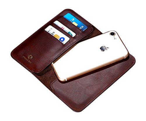 Cronus & Rhea® | Luxus Smartphone Geldbörse aus exklusivem Leder (Cerberus) | Apple iPhone 7 | Geldbeutel - Kartenhalter - Hülle | Echtleder | Mit eleganter Geschenkbox | Herren - (Geldbörsen Beliebt)