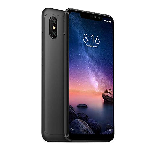 "Xiaomi Redmi Note 6 Pro Smartphones de 6.26"" Pantalla con Muesca 3GB RAM + 32GB ROM, Dual SIM + Ranura para Tarjeta microSD (Negro)"