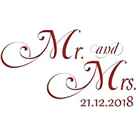 Wandtattoo Hochzeit Mr. and Mrs. & Hochzeitsdatum