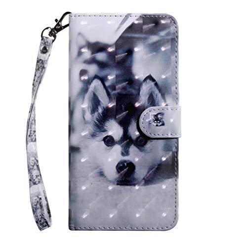 Galaxy A30s Hülle, PU Leder Wallet Tasche für Samsung Galaxy A30s Flip Brieftasche Schutzhülle Bookstyle Handyhülle Schale PC Case mit Trageschlaufe Standfunktion Cover Stoßdämpfung Handy Hülle