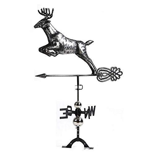 BYNBBUR Wetterfahne für den Garten, mit weißem Schwanz, Edelstahl, 3D-Ornamente