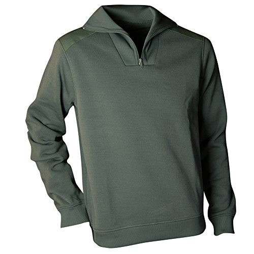 Weiße Arizona Sweatshirt (LMA Sweat Fleece Kentkragen weiß, khaki, grün, 9070 ARIZONA)