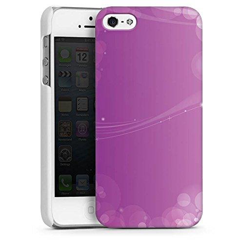 Apple iPhone 5s Housse Étui Protection Coque Lumière Motif Motif CasDur blanc