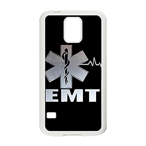 Special & Simple Design EMT EMS Medical Rescue Hard Plastic Case Cover for Samsung Galaxy S5 with Image White 022610