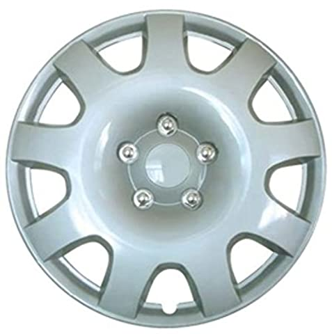 XtremeAuto® 15'' Silver Rally Sport Car Wheel Trim Hub Cap Covers Multi-Spoke - Includes Cable Ties And Chrome Valve Caps