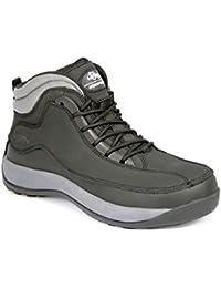 WorkForce Fuerza de trabajo real piel ligero Hiker–Botas de seguridad con puntera de acero (disponible en negro o marrón)