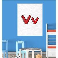 Alphabet V Nursery Children Educational Early Learning Poster Print Wall Art preiswert