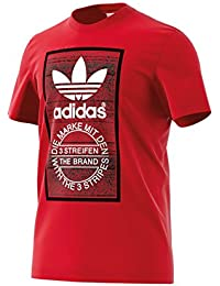 adidas Traction Tongue Camiseta, Hombre, Rojo (Escarl), M