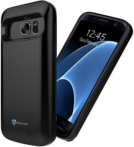 Samsung Galaxy S7 Battery Case: Stalion Stamina Rechargeable Extended 4500mAh Protective Power Cover Charging Case (Black Onyx)