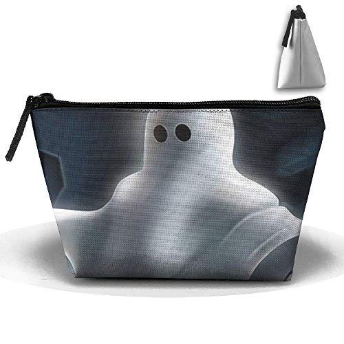schen-Bürstentasche Halloween Ghost Makeup Bag Zipper Wallet Hangbag ()