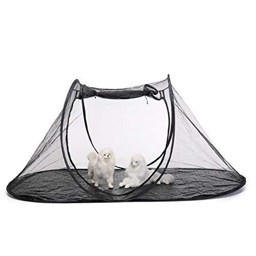 JYY Pet elliptisches Zelt, tragbarer zusammenklappbarer Haustier-Zaun-Welpen-Katzen-Reise-im Freienhaustier-Käfig, Schwarzes