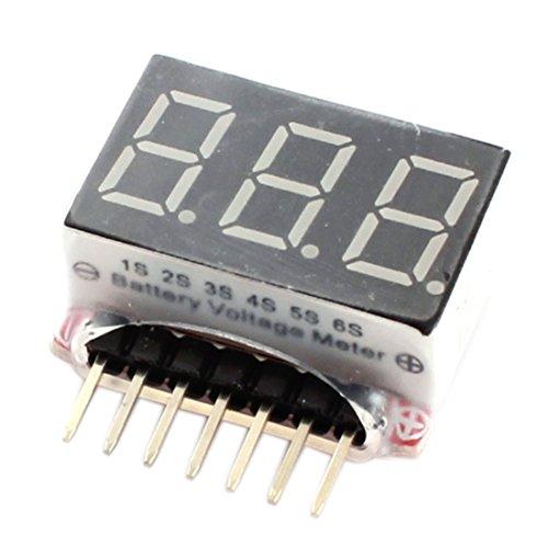 Aexit RC-Modell LED-Anzeige 1S-6S-Zellen Lipo-Batteriespannungsanzeige Monitor Meter (b1220039c5ea719999eb5673f7b9ef52) -
