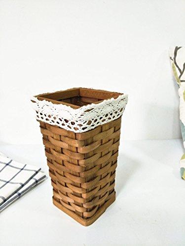 XBR schießerei requisiten _ dorf holz geflochtene korb laden manuell inneneinrichtungsgegenstände kreative floral - korb,log - farbe (Log-korb)