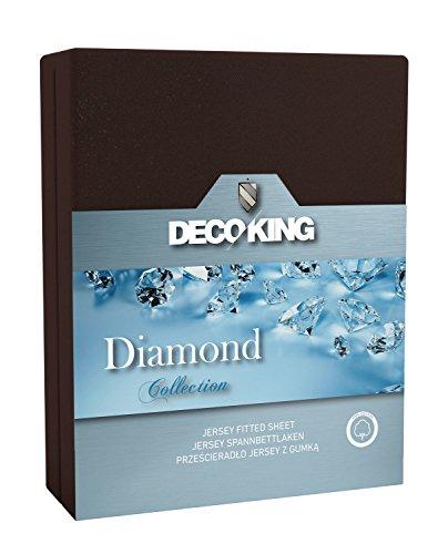 DecoKing 180x200-200x220 Schoko Spannbettlaken 100{e365ab8bdbabcce1982b5e8eacb9939f84cd41bb7923e69b309d74bd7762f3b9} Baumwolle Jersey Boxspringbett Spannbetttuch Bettlaken Betttuch Schokolade Dunkelbraun braun Choco Chocolate Brown Diamond Collection