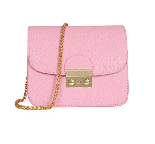 Piccola Custodia Signora Messenger Bag Pacchetto Quadrato Mini Pacchetti Per Natale Pink