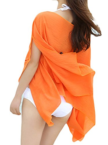 EOZY Damen Sommerkleid Beachwear Bikini Cover Up Strandkleider Orange ...