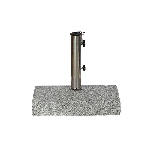 Siena Garden Schirmständer Granit, 45x28x7,5cm, Gestell: Granit, poliert in grau, Fläche: Granit in grau
