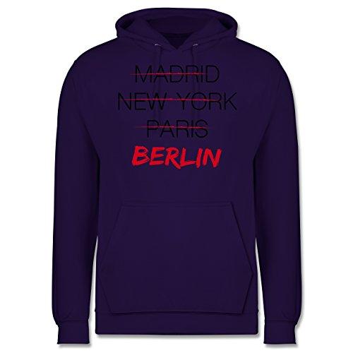 Städte - Weltstadt Berlin - Männer Premium Kapuzenpullover / Hoodie Lila