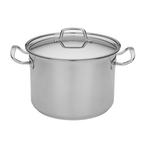 MIU Frankreich 95035 Stock Pot - 8 Quart mit Deckel aus Edelstahl 8 Quart Stock Pot