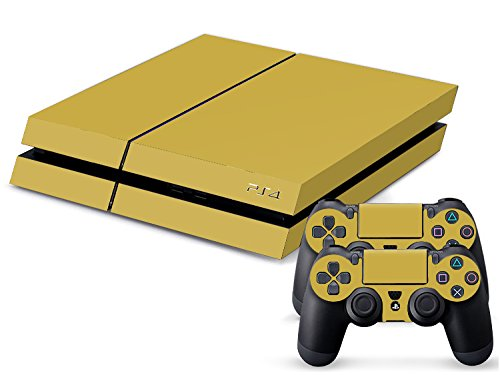 Set di adesivi decorativi per PlayStation 4 (Console + 2 Joypad) - Oro