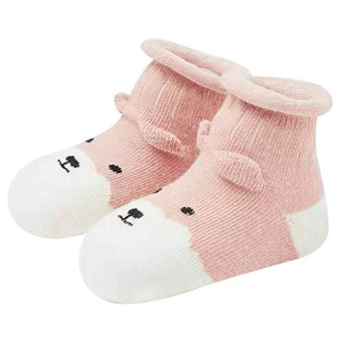 YWLINK Kleinkind Kleinkindsocken Baby Jungen MäDchen Cartoon Tiere Süß 3D Kinder Warme Socken