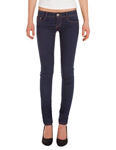 Fraternel Damen Jeans Super Skinny Hüftjeans dunkelblau 38/M (Rise-stretch-denim Vintage-low)