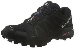 Salomon Women Speedcross 4 W Trail Running Shoes, Black (Black/Black/Black Metallic), 8 UK 42 EU