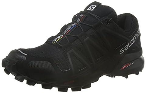 Salomon Femme Speedcross 4 Chaussures de Course à Pied et Randonnée, Synthétique/Textile, Noir, Pointure: 38 2/3