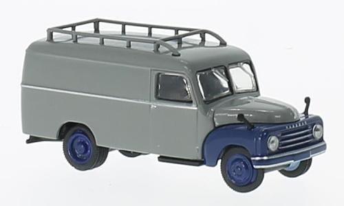 Hanomag L 28, grau/dunkelblau, 0, Modellauto, Fertigmodell, Brekina Starline 1:87
