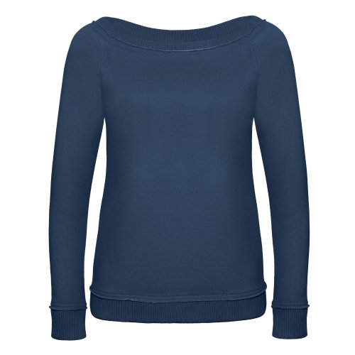 B&C Denim Invincible - Sweatshirt à large encolure - Femme Indigo profond