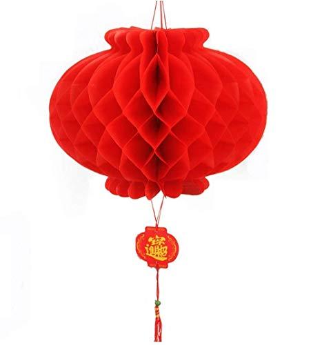 (Aofocy Festival chinesische Laterne Ornament Honeycomb Laterne chinesisches Frühlingsfest Dekoration verführerisch Guten Satz von 8 (Durchmesser: 21 cm))
