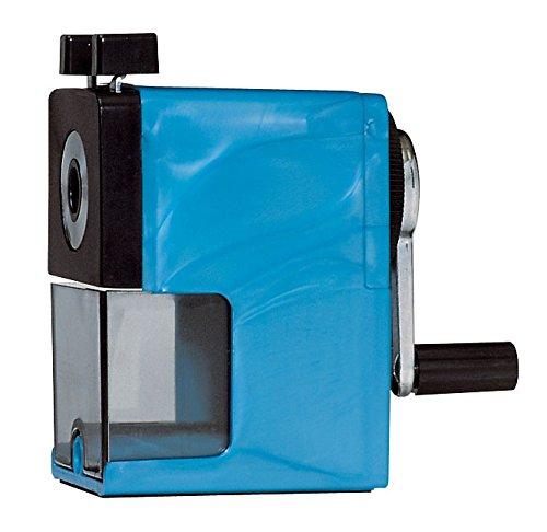 Caran d'ache - temperamatite in plastica con serbatoio, colore: blu