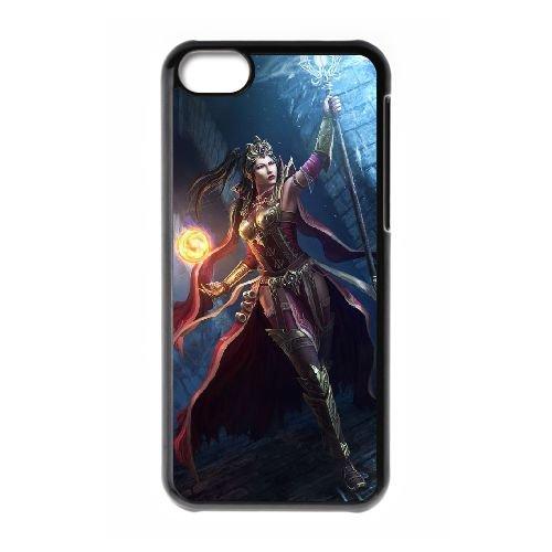 Diablo coque iPhone 5C Housse téléphone Noir de couverture de cas coque EBDXJKNBO09373