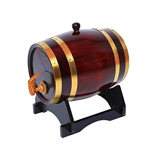 GZMDE - Weinbereitung Barrel Dispenser 10L, Weinfass Dekantierer, Lagerung Bier, Spirituosen, Whisky, Tequila Liquor, mit Tap,10L/Vintage - Bier-lagerung