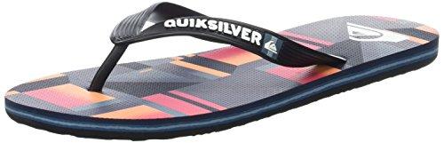 Quiksilver Herren Molokai Check Remix Sandalen Multicolore (BLACK/RED/BLACK)