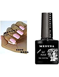 Vernis à ongles gel Medusa B226Rose clair en blanc Soak Off UV/LED 10ml. cadeau avec 6bouteilles 20...