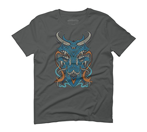 Blue Dragon Men's Graphic T-Shirt - Design By Humans Anthracite