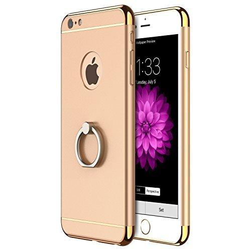 iPhone 6s Plus Hülle, RANVOO Elektroplattierter Kappen mit einer Matter Oberfläche 3-Teilige Styliche Extra Dünne Harte Schutzhülle Case for iPhone 6 Plus Silber,[CLIP ON] Gold - Model 2