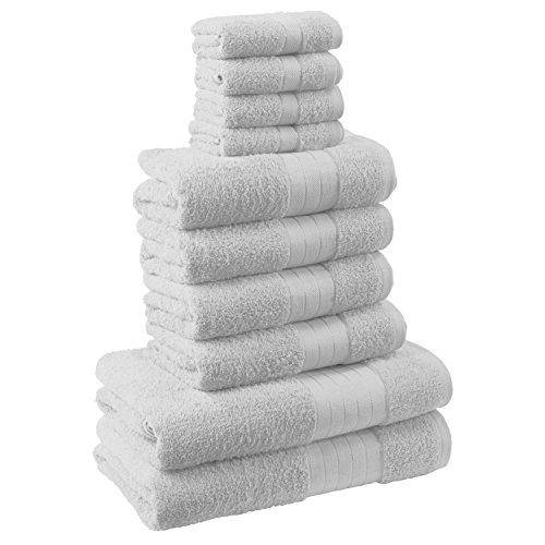 Dreamscene morbido asciugamani Set Regalo Cotone Bianco 10pezzi